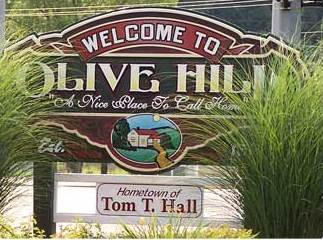 City of Olive Hill Welcome sign